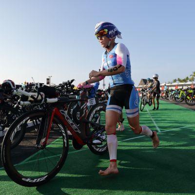Kaisa Sali Havaijin Ironman-kisassa 2017
