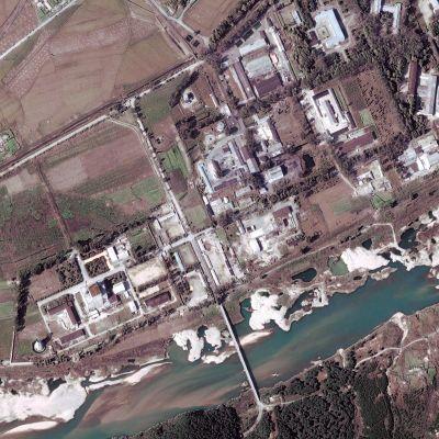 Nordkoreas främsta kärnanläggning i Yongbyon
