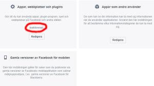 Facebook-inställningar.