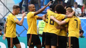 Belgien firar mål
