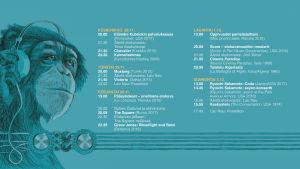 Teeman elokuvafestivaalin ohjelmakartta syksy 2018.