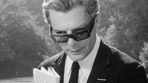 8 1/2 (Otto e mezzo). Elokuva vuodelta 1963. Kuvassa Marcello Mastroianni.