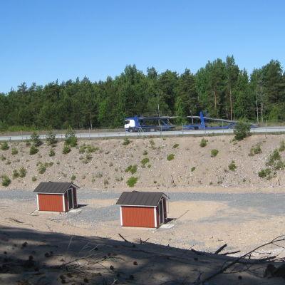 Pupmstationer i Hangö där man testar konstgjort grundvatten.