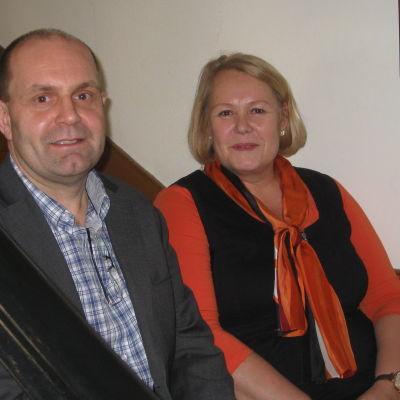 Christer Holmlund och Nina Eriksson-Holmström