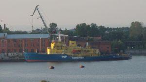Den ryska isbrytare Tor som har råkat i sjönöd på Nordsjön, byggdes på Wärtsiläs varv i Helsingfors år 1964
