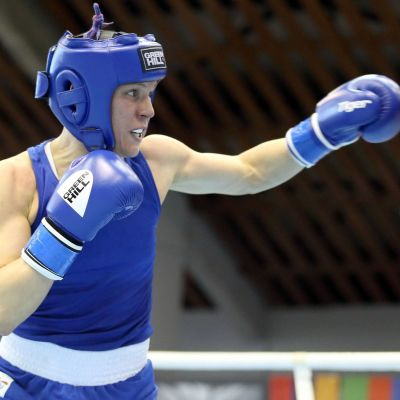 Mira Potkonen boxas mot Dariaq Abramova, EM 2016.