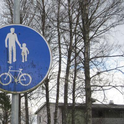 Gång- och cykelvägsmärke