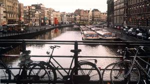 En av otaliga kanaler i Holland.