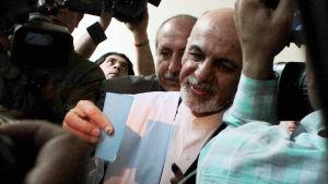 Ashraf Ghani Ahmadzai röstade i Kabul (14.6.2014)