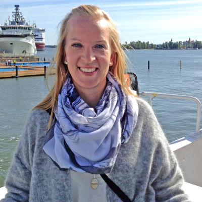 Sandra Bergqvist, teamledare för svenska teamet i Kommunförbundet.
