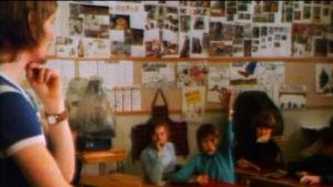 Oppitunti Pirkkalan peruskoulussa (1975).