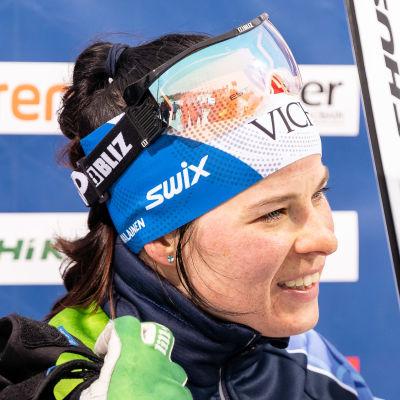 Krista Pärmäkoski i intervju.