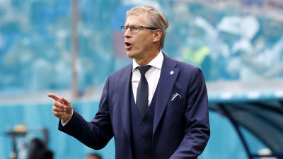 Suomen valmentaja Markku Kanerva.
