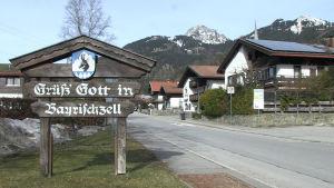 Infarten till orten Bayrischzell