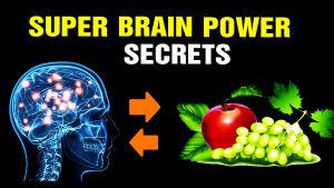 en hjärna och frukter