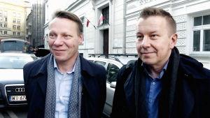 Nuorisosäätiön Jari Laine ja Kimmo Pihlman.