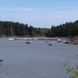 Hamnen i Barösund i Ingå.