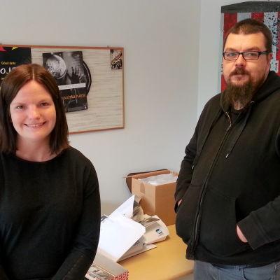 Caroline Mård och Jonas Rönnqvist.