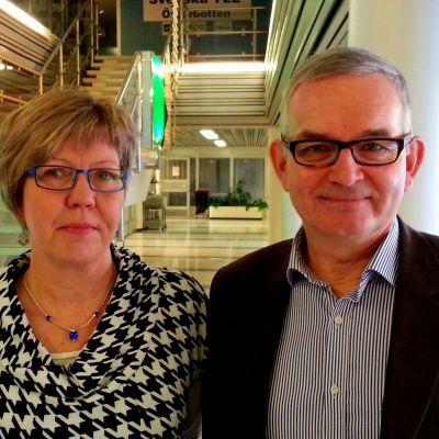 Aija Ström och Thomas Öhman