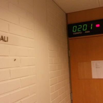 Oulun käräjäoikeuden istuntosali