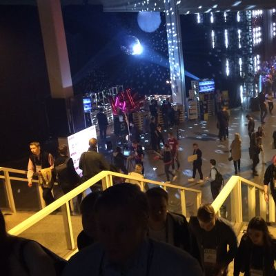 The steps of the Helsinki Expo and Convention Centre, which lead down to Slush 2015.