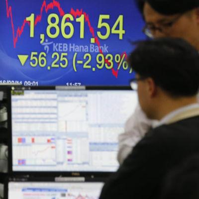 Börsen i Sydkorea sjönk 2,98 procent den 11 februari 2016.