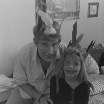 """På bilden Mark Levengood och Matilda Gyllenberg under inspelningarna av """"Min Göran och hans Jens""""."""