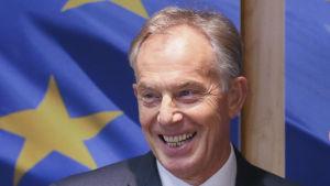 Storbritanniens förre premiärminister Tony Blair på ett möte i Bryssel 25.1.2017