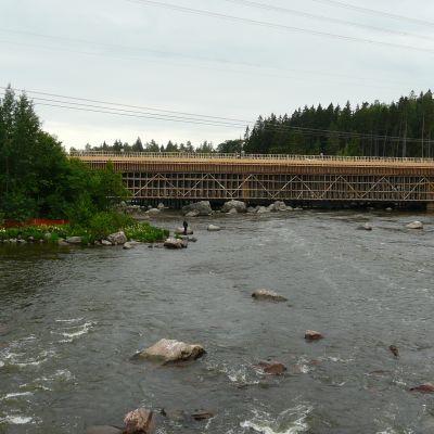 Marknadsbackens motorvägstunnelbygge i Lovisa