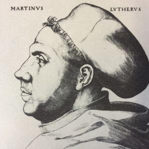 Lucas Cranach den äldre: Martin Luther med doktorshatt