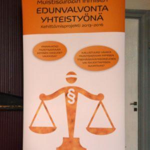Logo för projektet kring rättsskyddet för personer med minnessjukdomar.