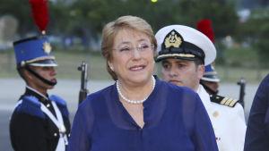 Chiles president Michelle Bachelet