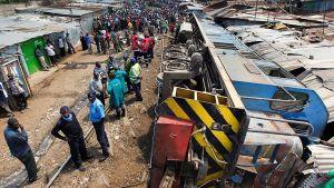 Tågolycka i Nairobi 2013.