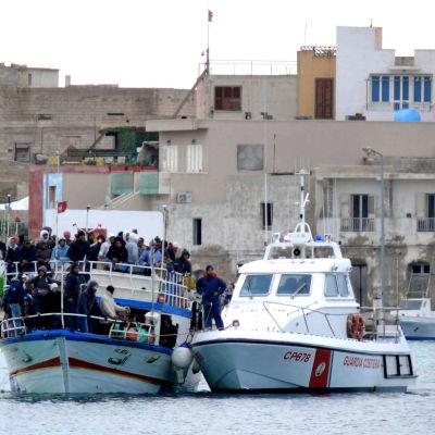 Båtarna är fulla med flyktingar från Tunisien