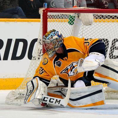 Nashvilles Pekka Rinne släppte bara in ett mål i tisdagens NHL-omgång.