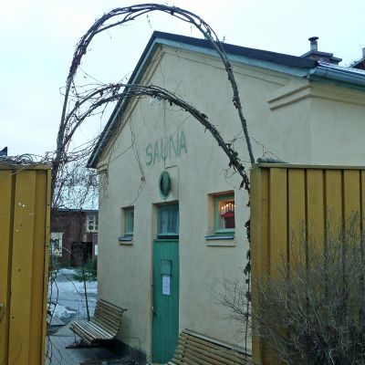 Rajaportin sauna Tampereen Pispalassa.