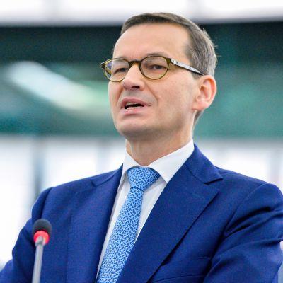 Puolan pääministeri Mateusz Morawiecki puhui Euroopan parlamentissa Strasbourgissa keskiviikkona.