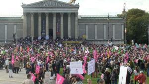 Demonstrationen lockade 20 000 deltagare.