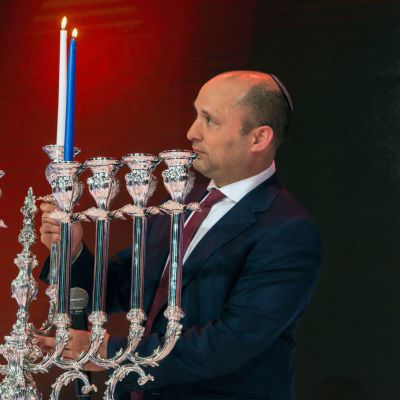 Naftali Bennett Jerusalemissa.