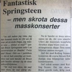recension av springsteen-konsert