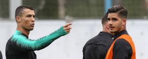 Cristiano Ronaldo och André Silva i VM.