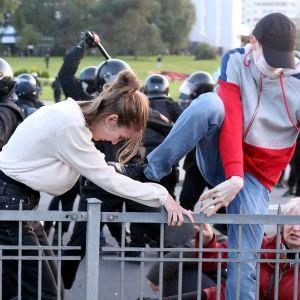 Demonstration i Minsk 23.9.2020