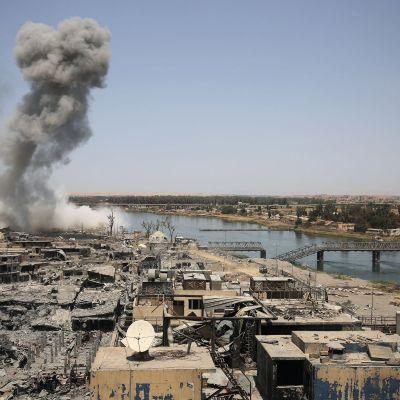 Totalförstörda Mosul.