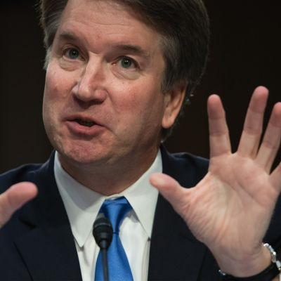 Brett Kavanaugh under utskottsförhören i senaten den 14 september.