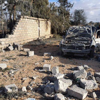 Granatattack mot staden Tajura i Libyen 24.12.2019