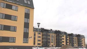 Finsk arkitektur i en förort till Sankt Petersburg.