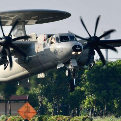 Amerikansk EWA-plan i Taiwan under en årlig manöver.
