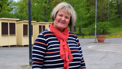 Gilla Granberg vid Dalsbruks torg.