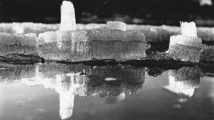 Tapio Wirkkalan kuvaamaa jäätä ja vettä