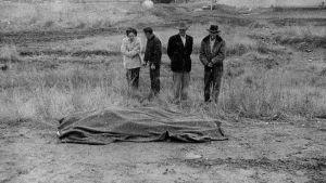 Robert Frankin valokuva. Kuvakaappaus dokumenttielokuvasta Don't Blink: Robert Frank.